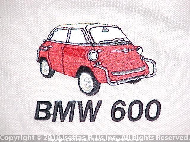 Red embroidered USA BMW 600 model