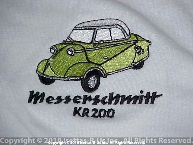 Reseda Green embroidered Messerschmitt Kr 200 model