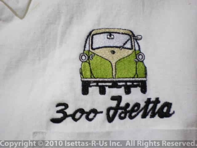 Reseda Green embroidered Euro Isetta model