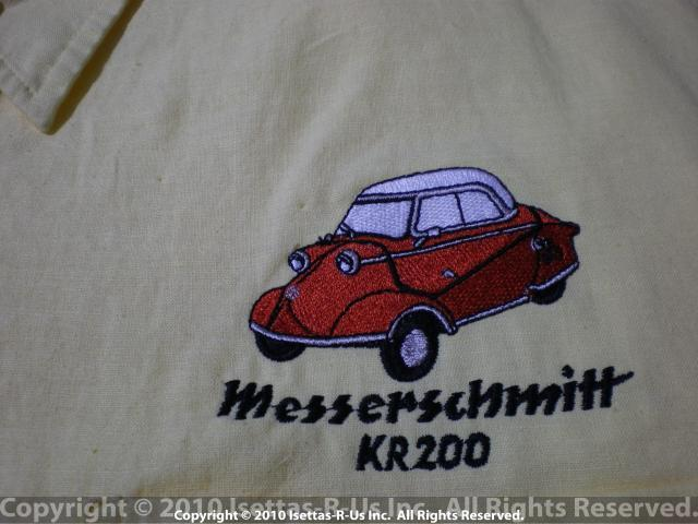 Red embroidered Messerschmitt Kr 200 model